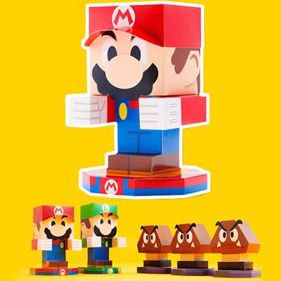 Mario Luigi Paper Jam Paper Toys Paper Toys Jam Paper Mario