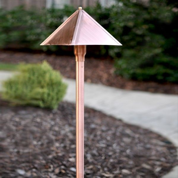 "Clarolux Fabriano Series I - Copper Path Light w/Circular LED G4 BiPin 1.8W - 2700K (185 LM) 16"" Copper Extension Pole -"