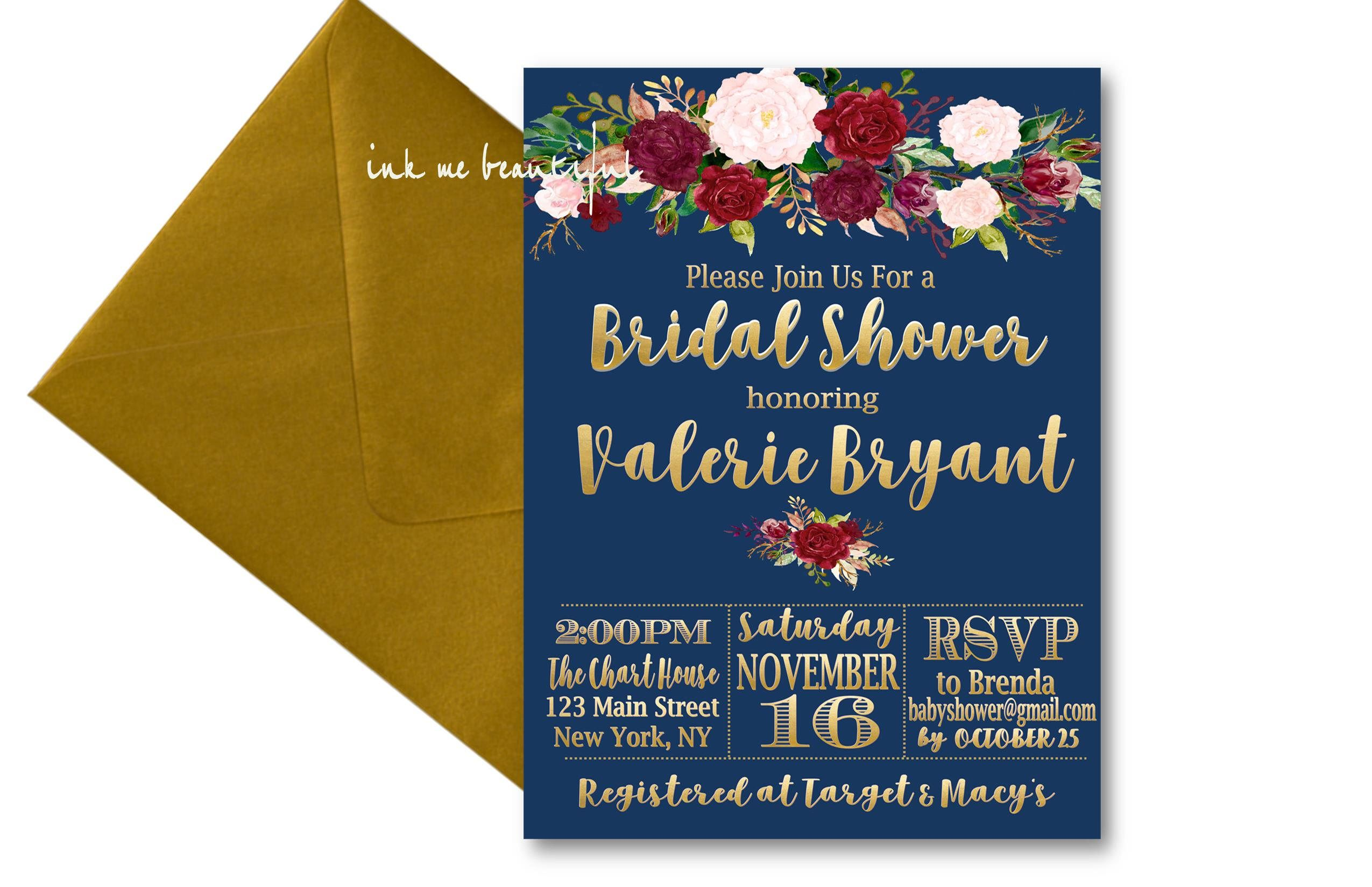 Bridal Shower Sign Marsala Invite Burgundy Wedding Sign