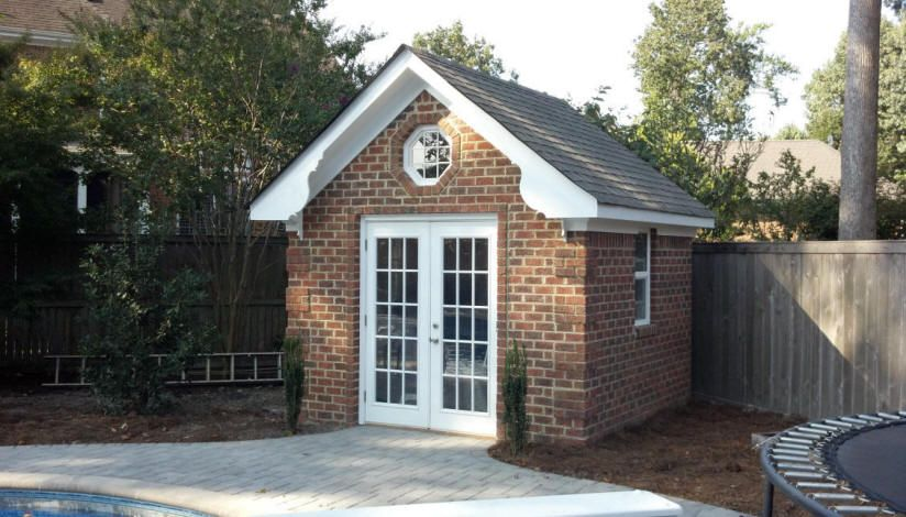 Image Result For How To Build A Brick Shed Brick Shed Backyard Sheds Building A Shed