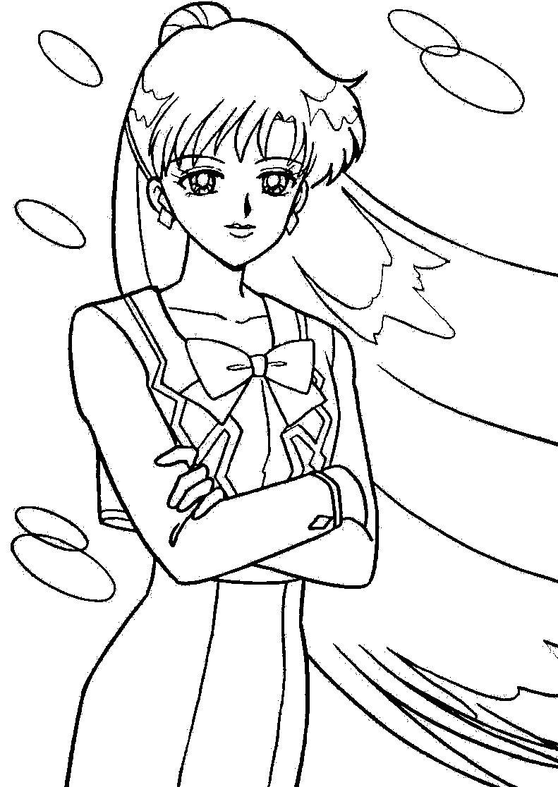 sailor pluto so pretty sailor moon coloring pages pinterest