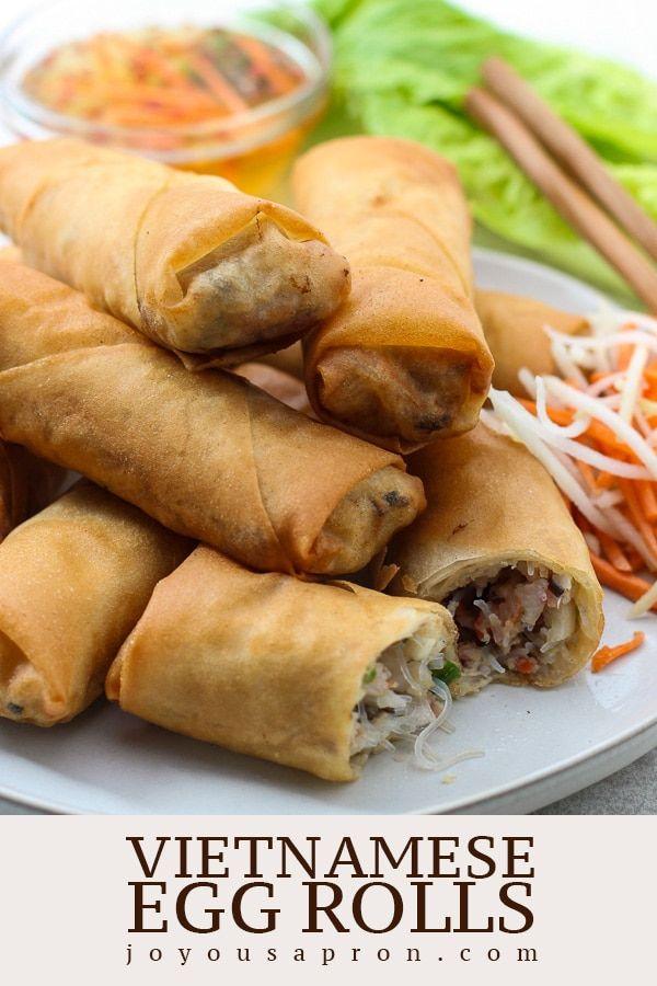 Vietnamese Egg Rolls Authentic Recipe - Joyous Apron