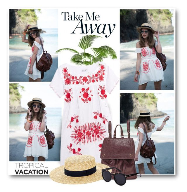 """""""Take Me Away!"""" by brendariley-1 ❤ liked on Polyvore featuring Sensi Studio, Jérôme Dreyfuss and Accessorize"""