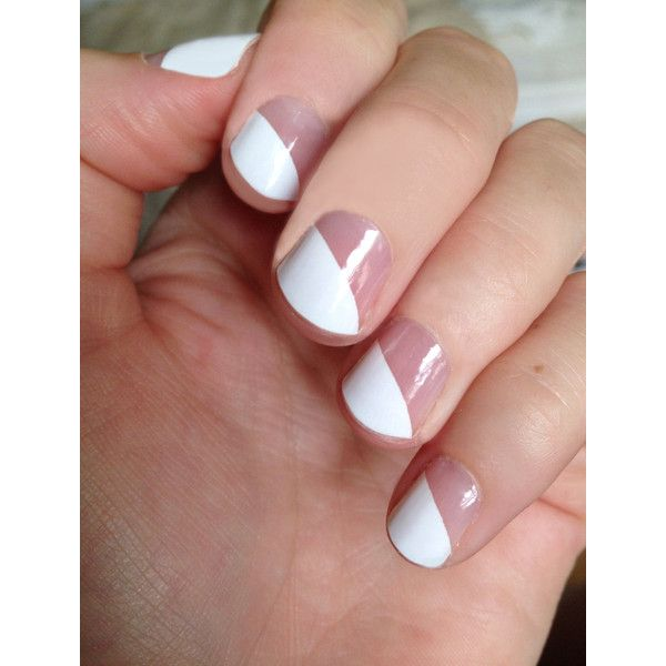 White Modern French Transparent Nail Wraps ($8) ❤ liked on Polyvore ...