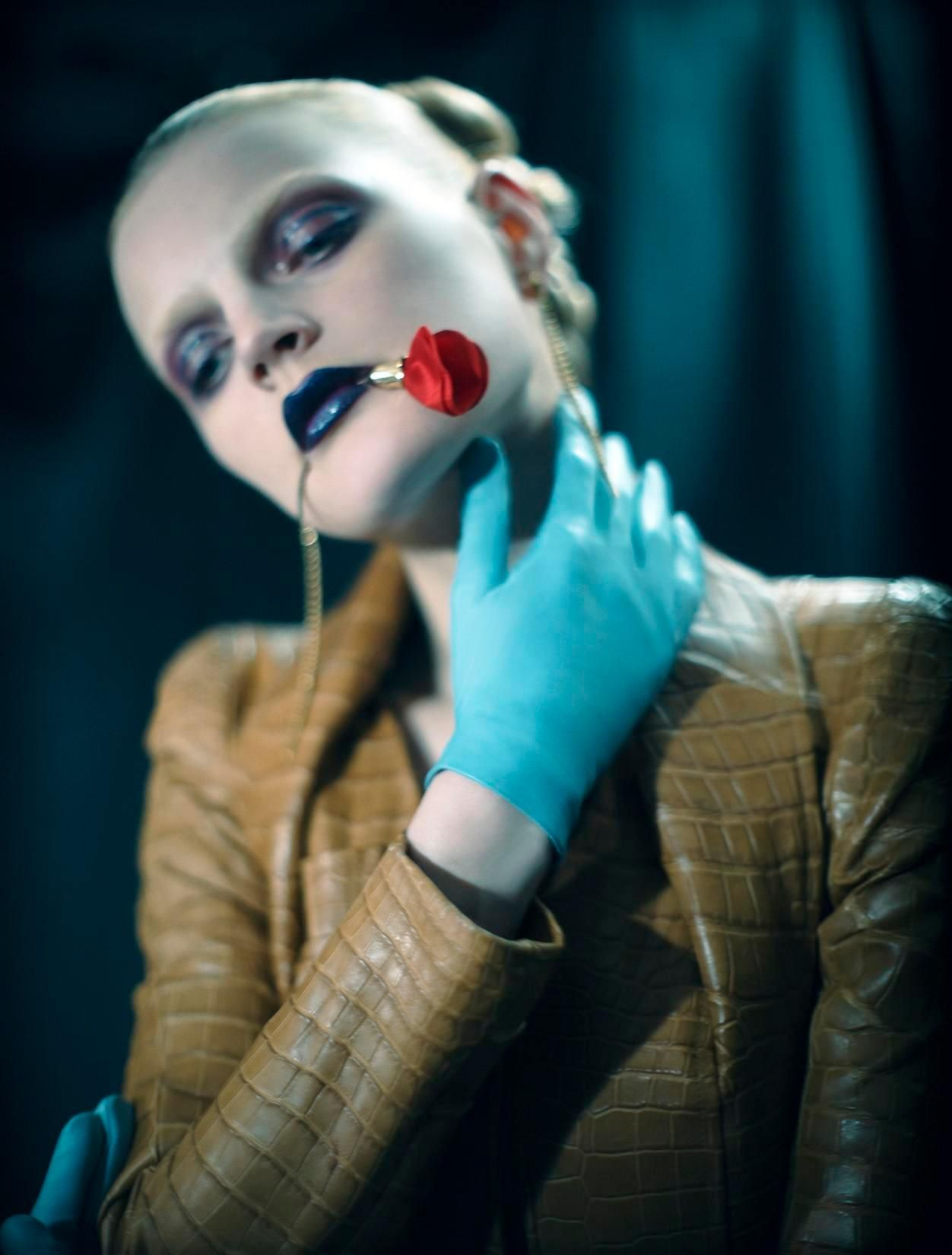 Guinevere Van Seenus in First Look at Fall for V #36Shot by Glen LuchfordStyle dny Ana Steiner