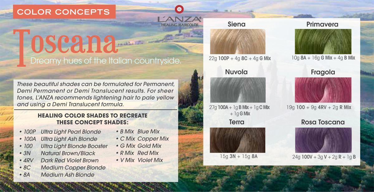 Lanza Healing Haircare Healing Haircolor Toscane Shades Colors