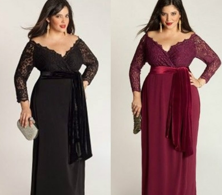 4a584c98b6f32 Plus Size Lace Dress V-neck Maxi Evening Dress in 2019 | What to ...