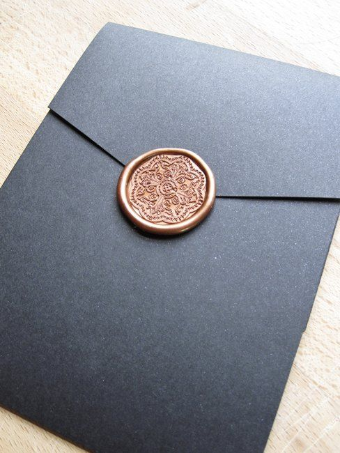 Elegant Wax Seal Wedding Invitation By Http Justinkonpaper