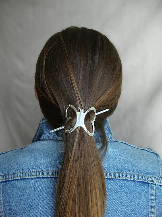 Image result for barrette pins in a pony