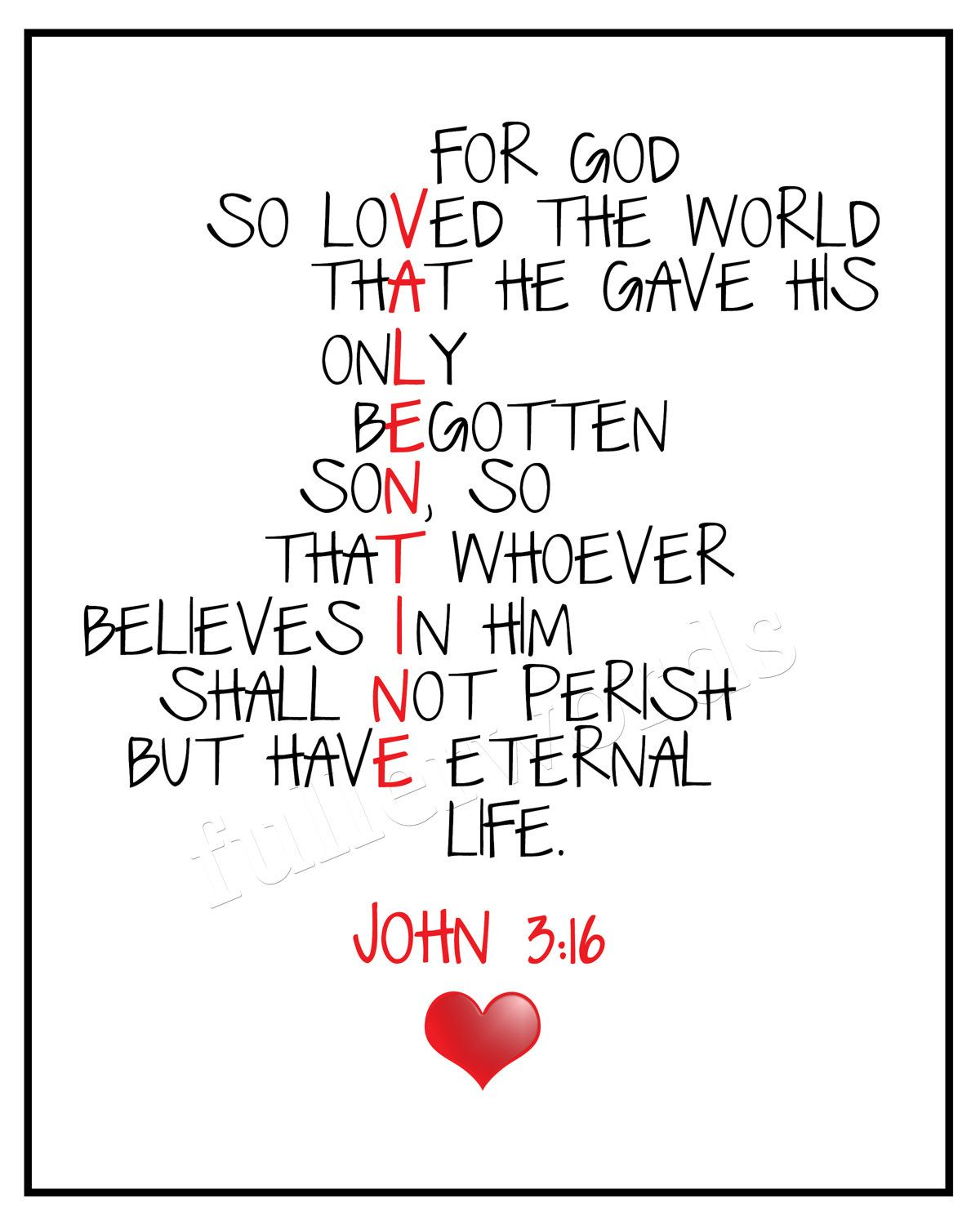 True Love Valentine Quotes: Valentine :: John 3:16
