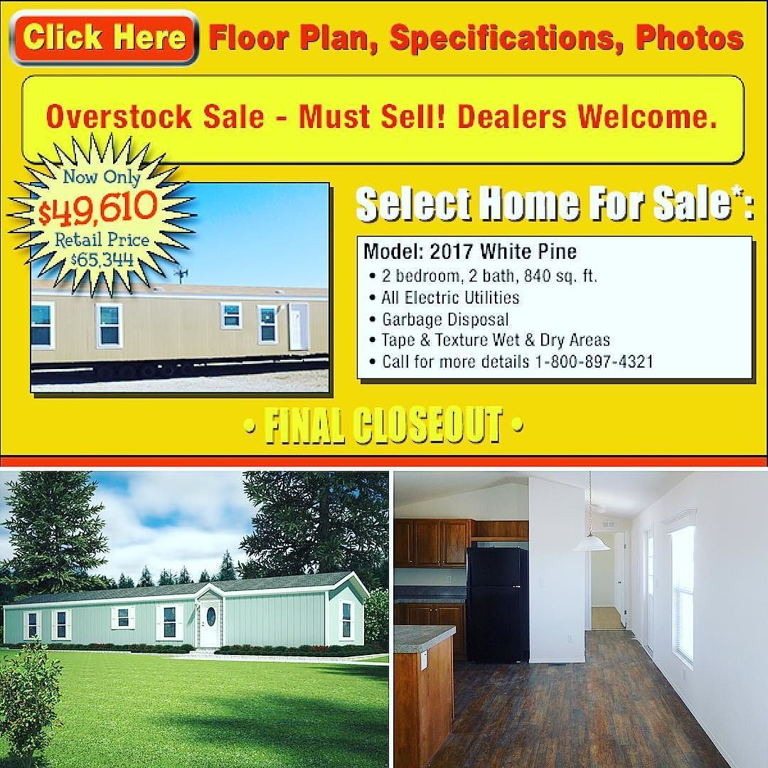 Today's Featured Closeout Model Is The 2 Bed 2 Bath 2017