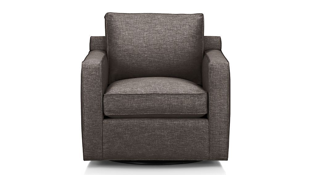 Crate Barrel Davis Swivel Chair