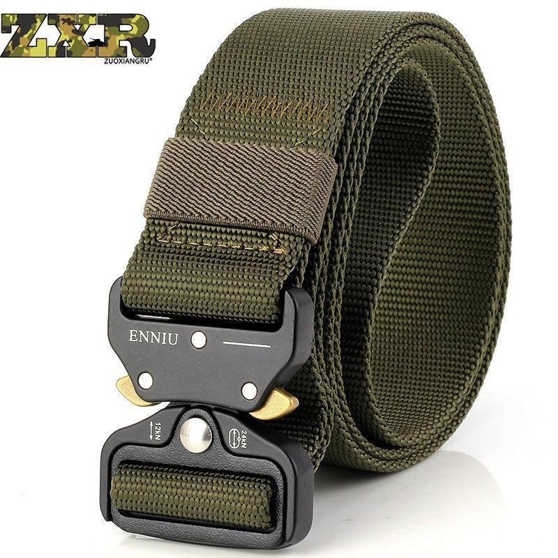 Men/'s Tactical Military Combat Nylon Canvas Belt Buckle Strap Waistband US