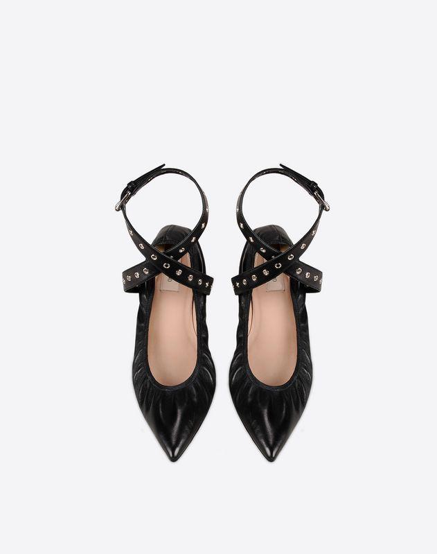9072d597b VALENTINO Logo Buckle Leather sole Narrow toeline Women 11044627HN thumb 3