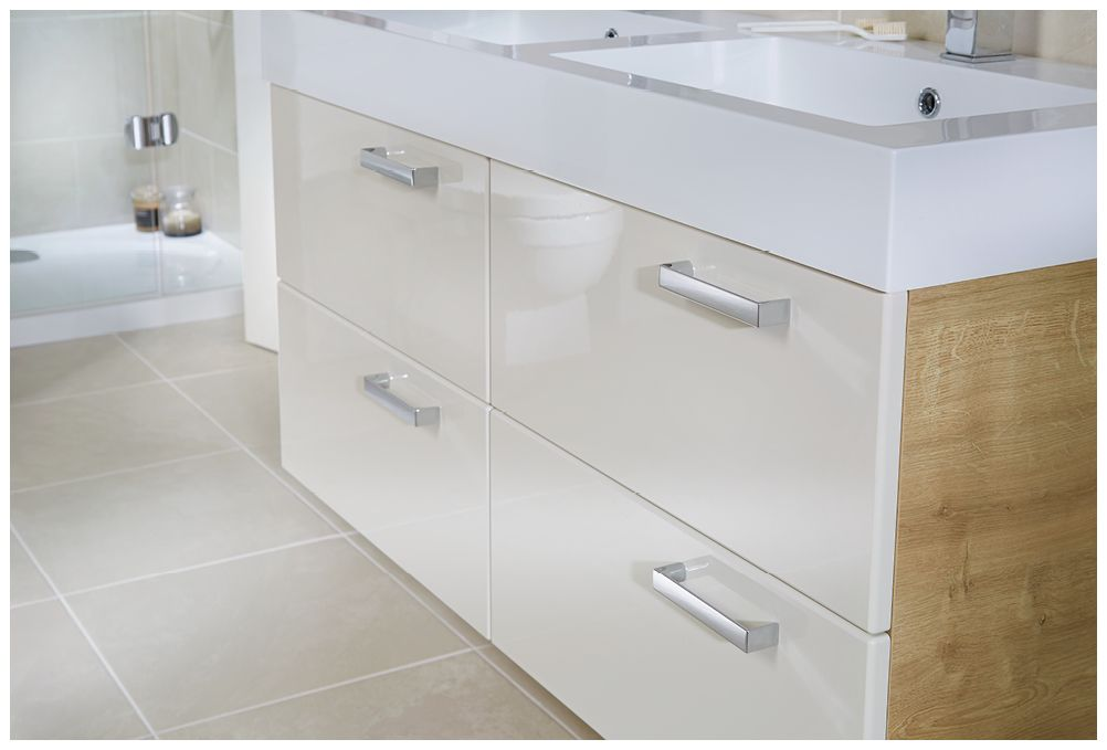 Bathroom Furniture With Chrome Handles From Utopia Bathrooms