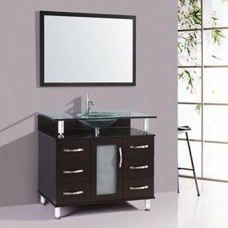 Kokols 32 Quot Single Bathroom Vanity Set With Mirror 24 Inch Sink