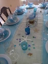 Table Setup Ideas With Images Beach Theme Bridal Shower Beach