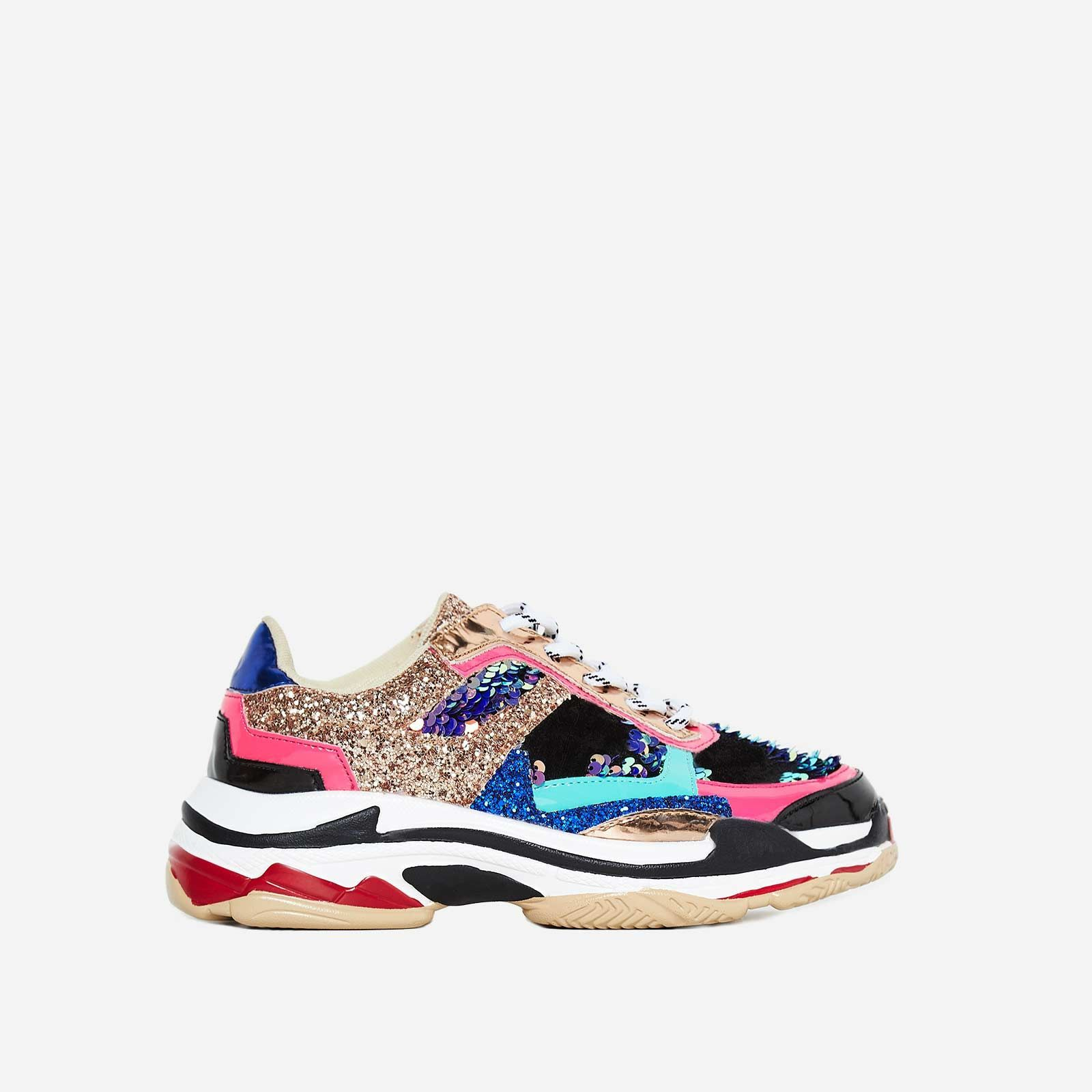 Flagship Chunky Trainer In Multi Colour