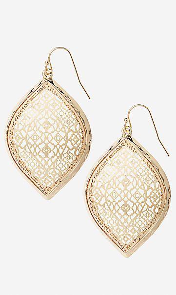 filigree teardrop dangle earrings