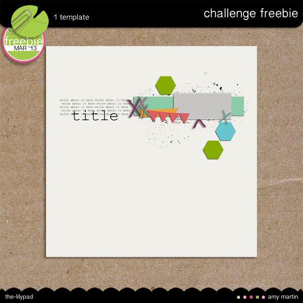 alb freebie  2013 Template Challenge CD #13