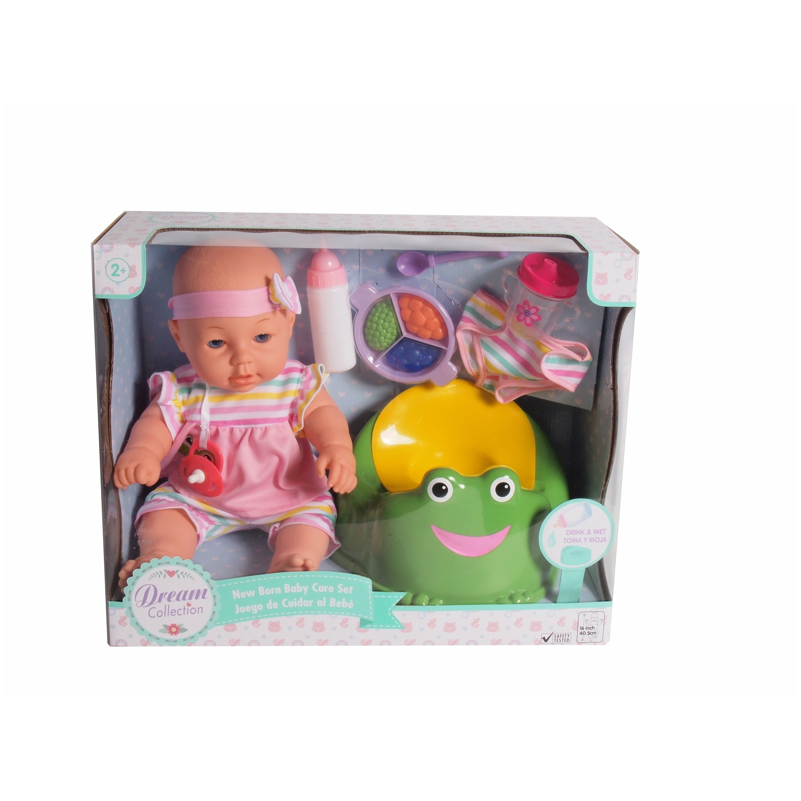 Dream Collection 16 Pretend Play Baby Doll Care Set with Potty & Accessories #dollcare