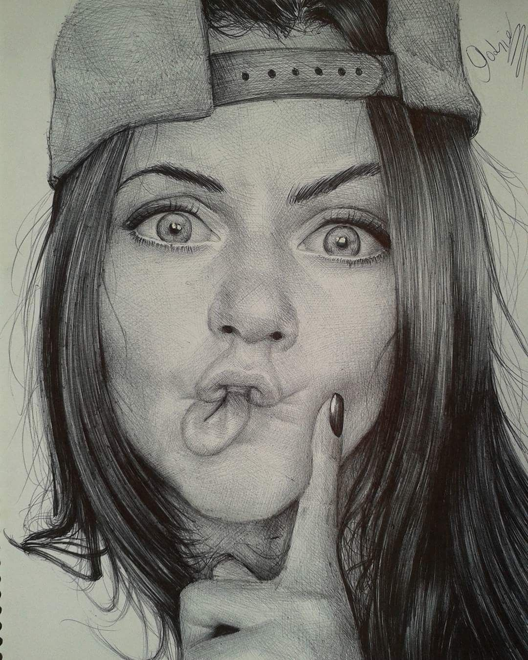 A Woman Happy She Has A Party Trick To Do At Her Next Shindig Realistic Drawings