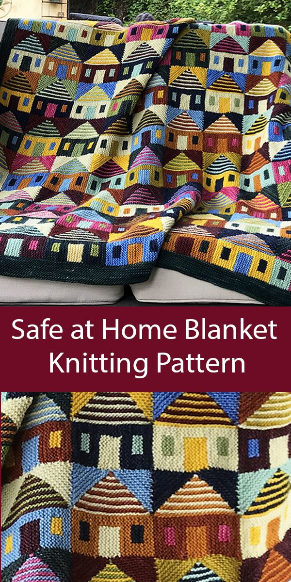 Stashbuster Knitting Pattern for Safe at Home Blanket