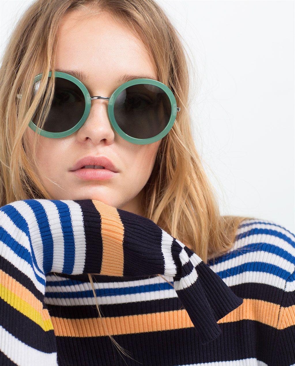 Imagen 2 de GAFAS DE SOL PASTA Y METAL REDONDAS de Zara | gafas ...
