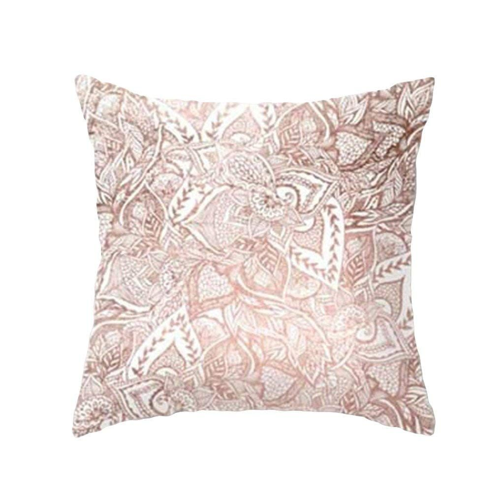 display08 Geometric Striped Flower Throw Pillow Case