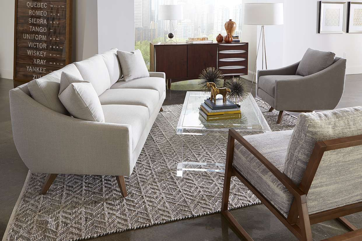 Nash Sofa, Nash Swivel Chair, Beckett Chair | Rowe Furniture