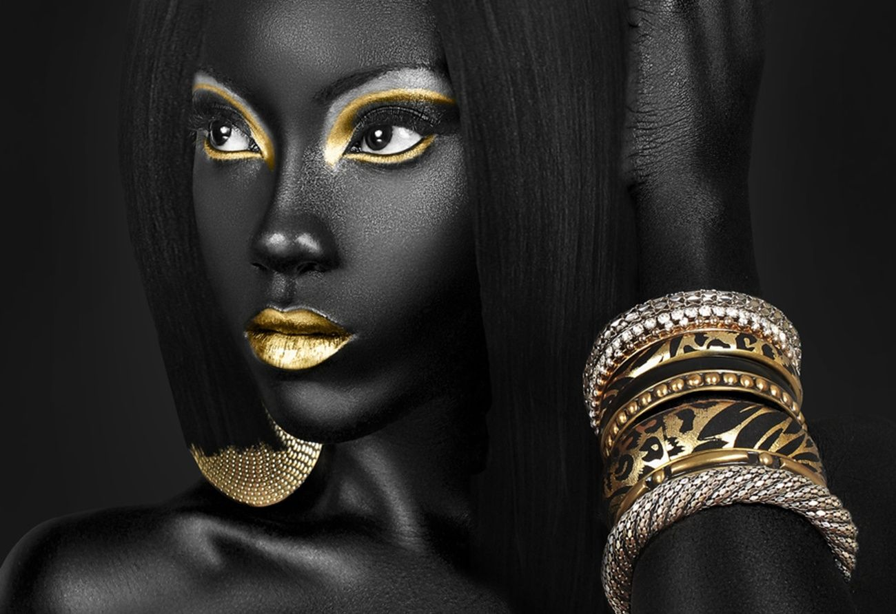 gold african american make up | Makeup Wallpaper/Background 1300 x 892 - id: 321841 - Wallpaper Abyss