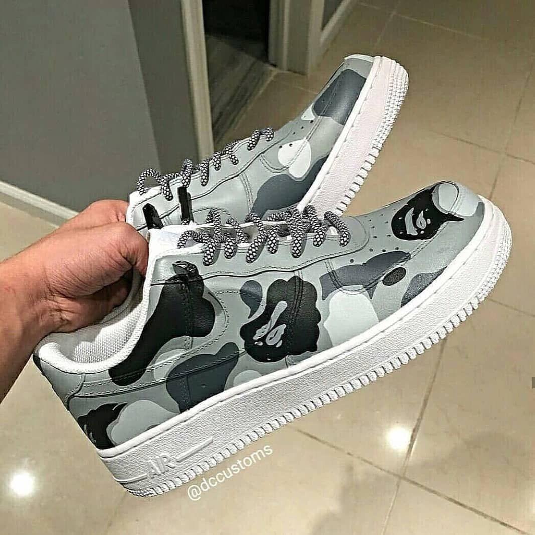 Nike x Bape Custom | Tênis camuflado, Tenis sapato, Sapatos