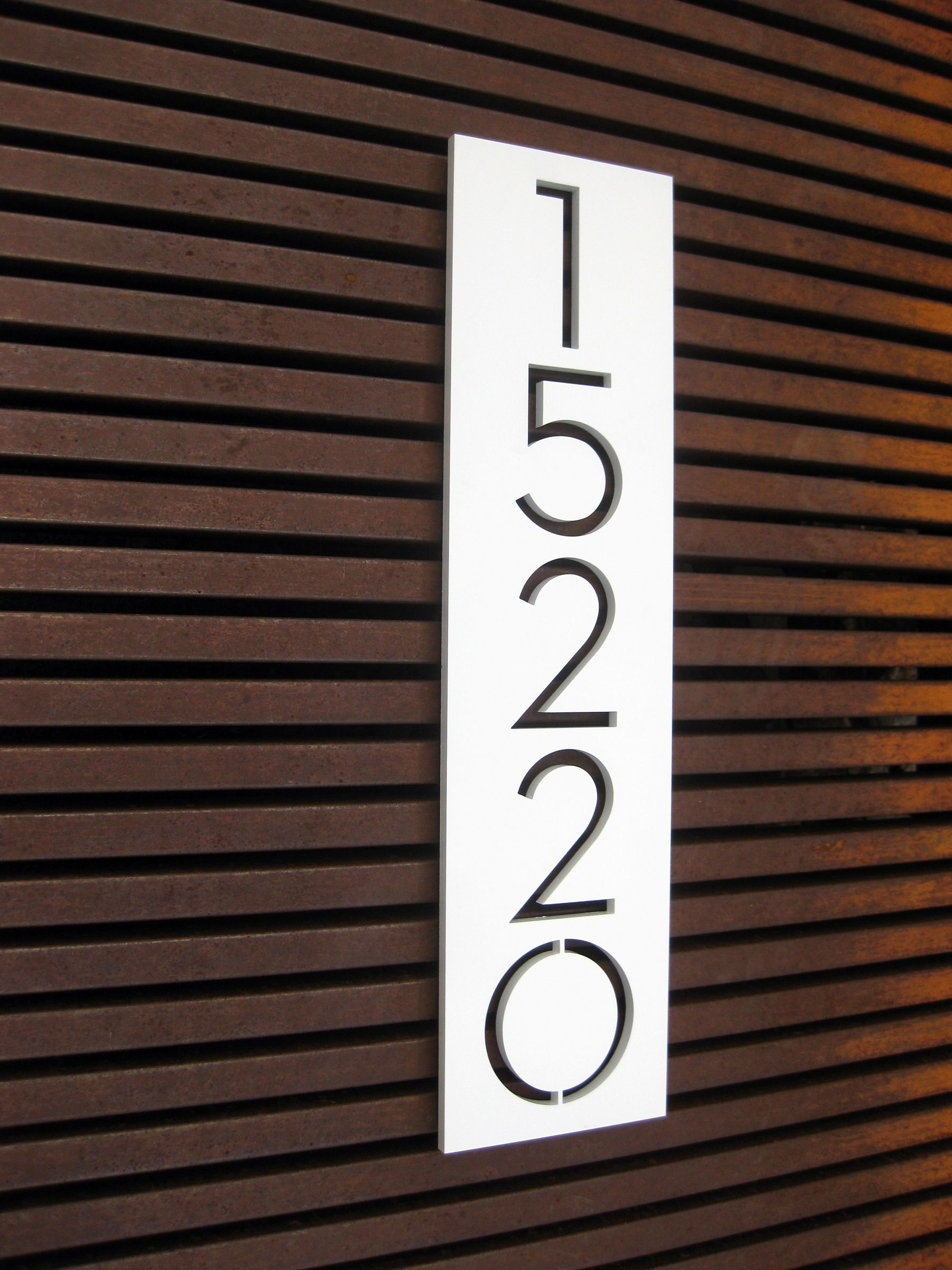 house number inspiration! go with the unexpected - choose one of