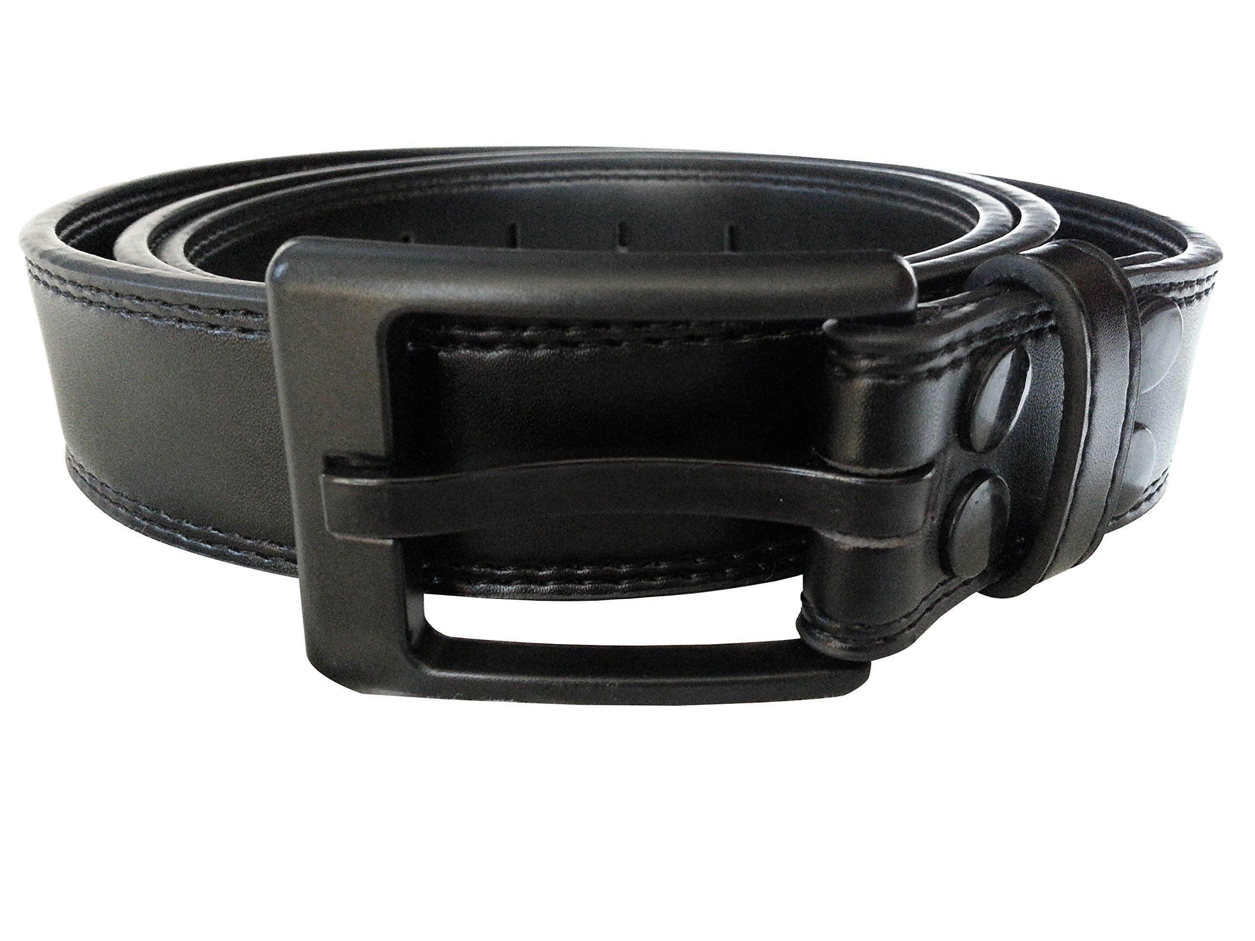 "Ferrer Men's MetalFree Belt 30"" 36"" Black Leather men"