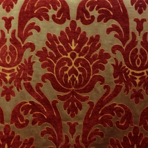 Capulet Turkish Red Damask Upholstery Fabric By P Kaufmann 54569