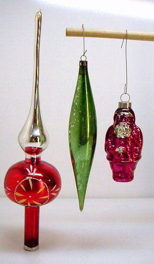 Anciennes boules de noel en verre. Vintage Christmas glass