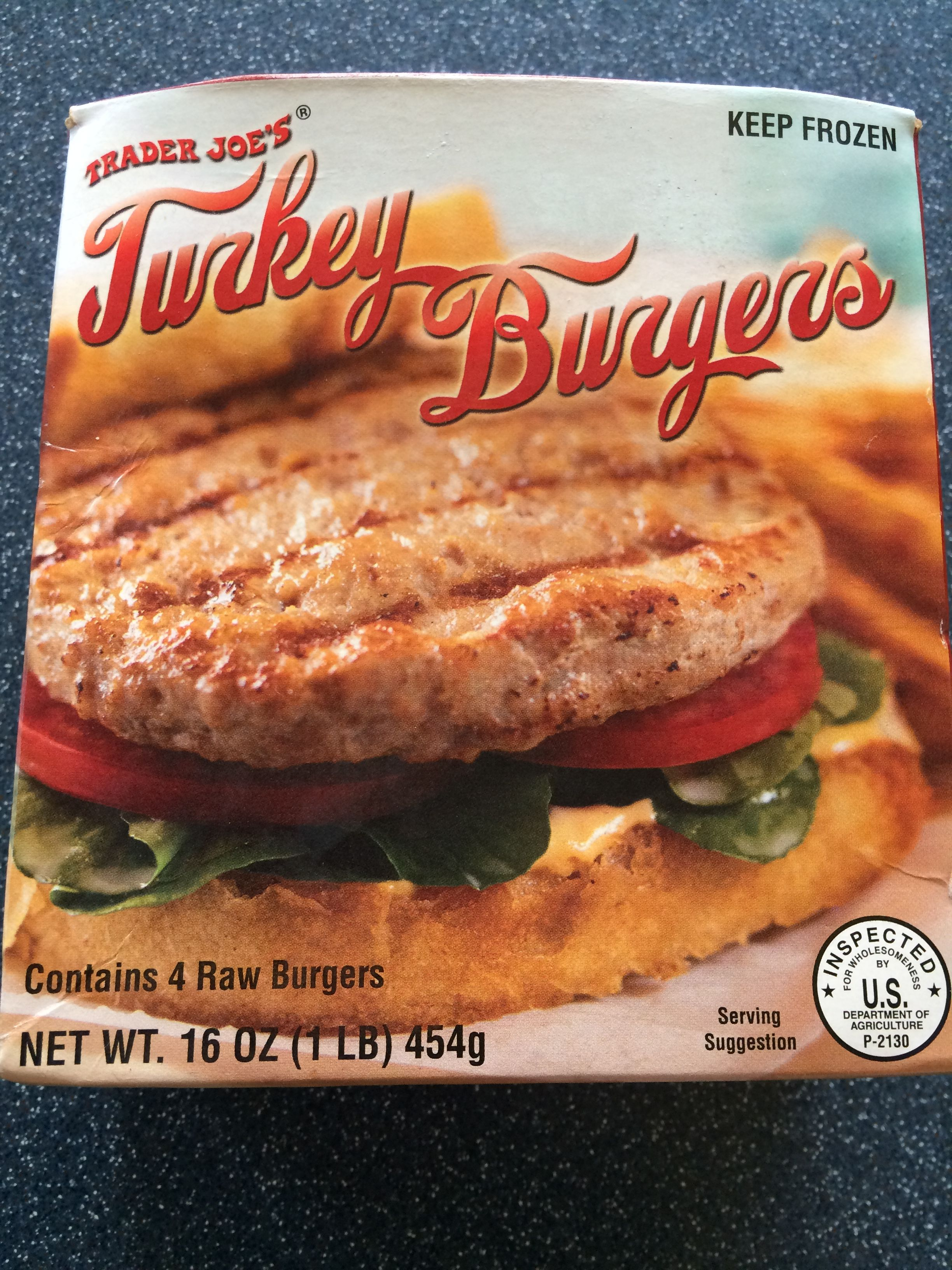 These Frozen Turkey Burgers From Trader Joe S Contain Just 3 Ingredients Turkey Rosemary Extract And Kosher Salt Turkey Burgers Frozen Turkey Food