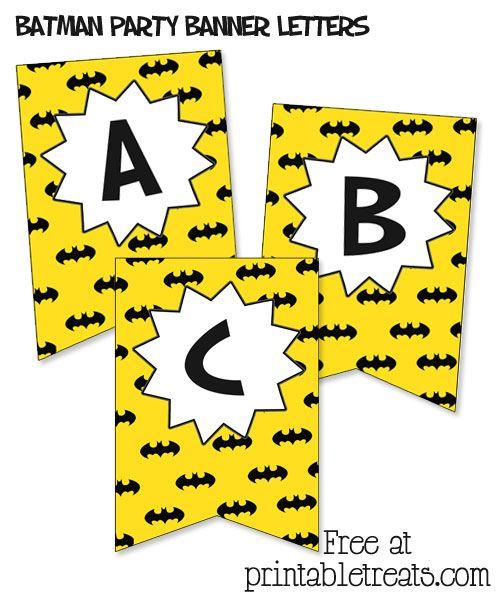 Free Comic Book Day Banner: Free Batman Birthday Banner From PrintableTreats.com
