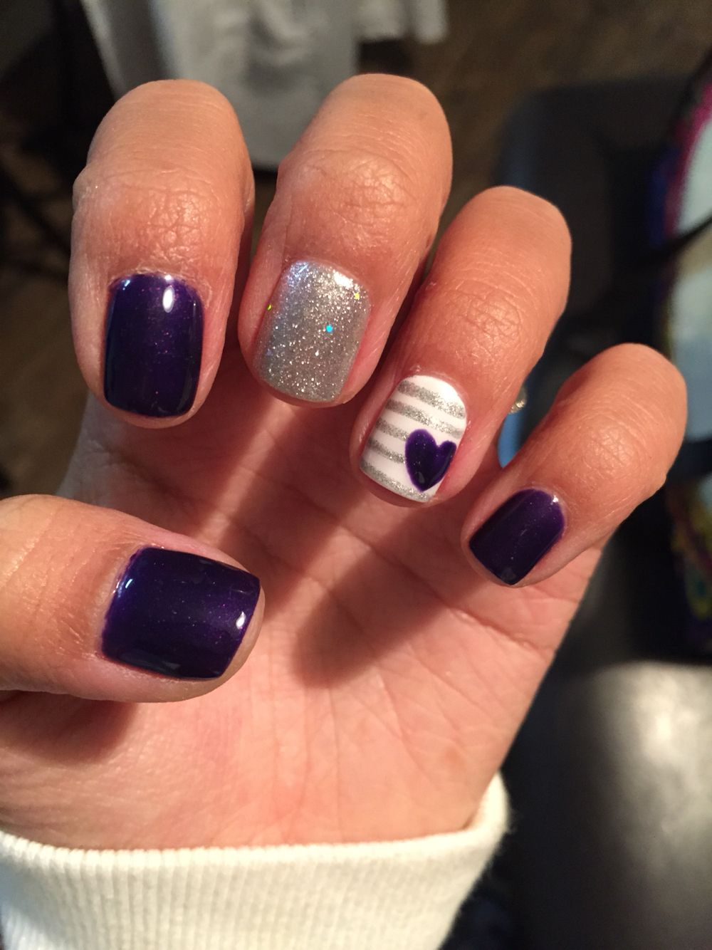 Purple Gel Nails Purple Gel Nails Short Gel Nails Nail Designs Valentines