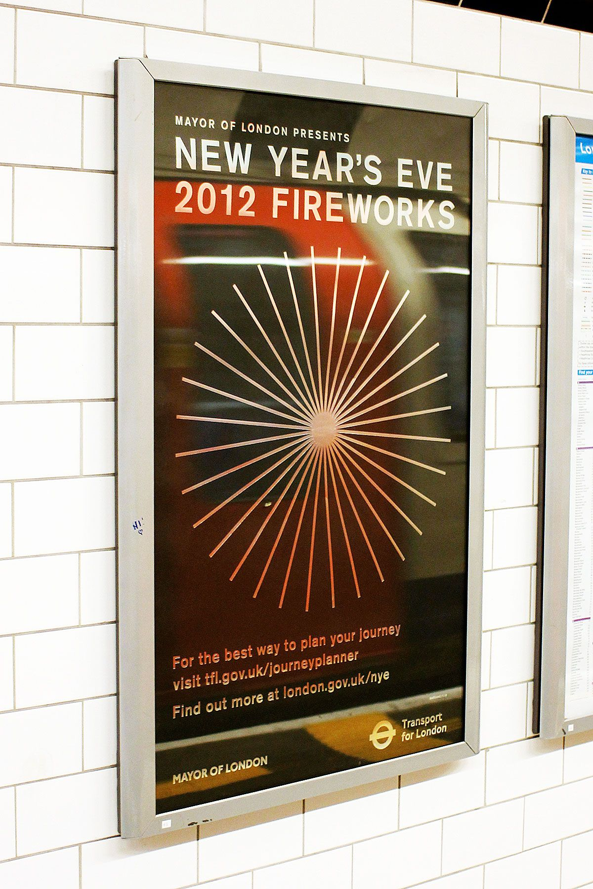 NYE london 2012 tube poster (With images) New years eve