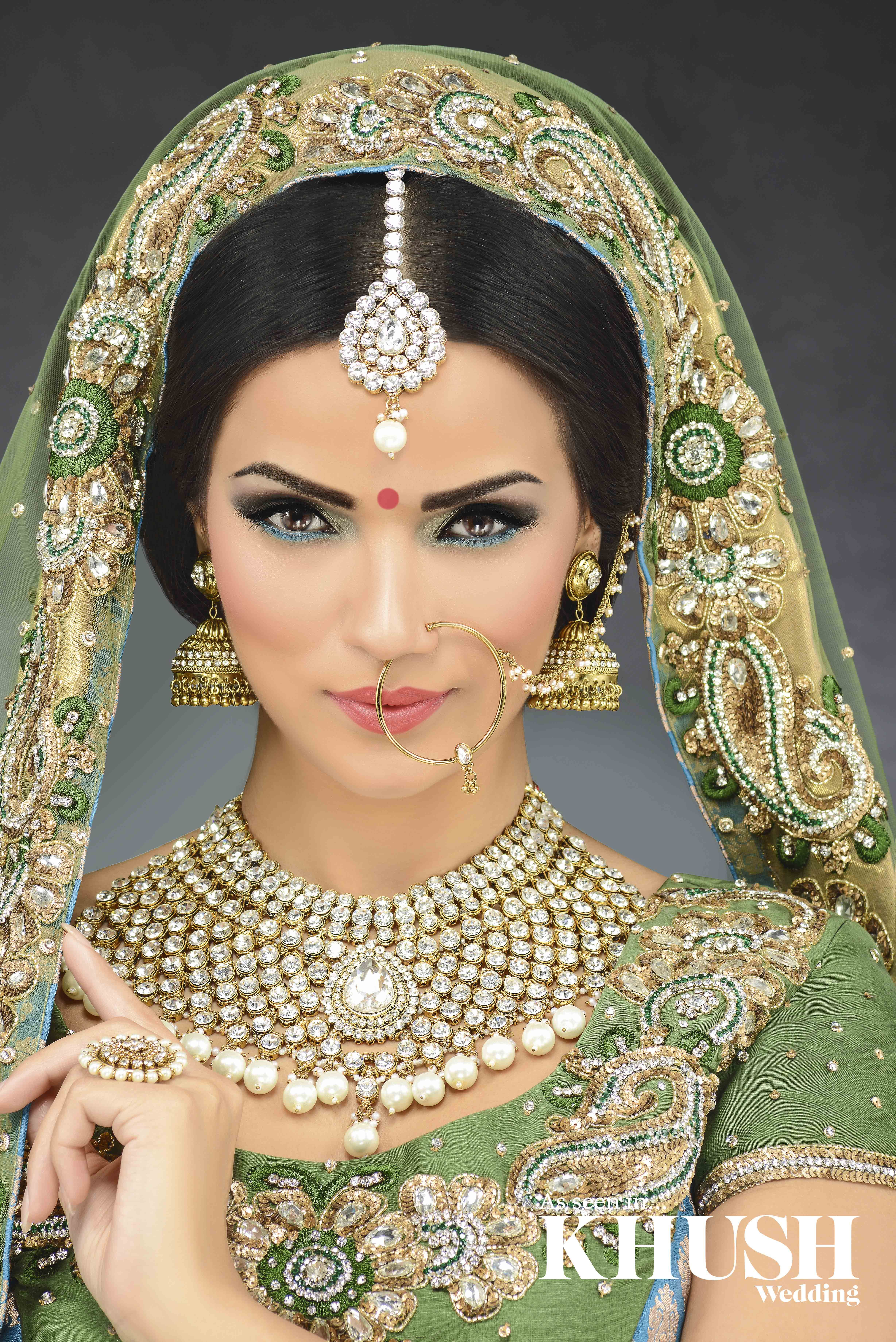 Glamorous Bridal Makeup From Start To Finish : Go for all out bridal glamour. By Kaura Hair and Makeup T ...