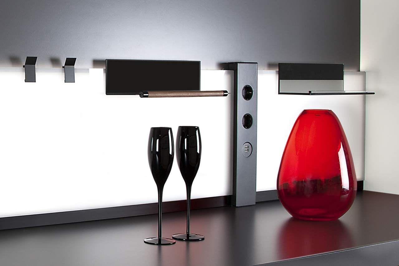 K concept il nuovo pannello di lus che illumina e decora la cucina
