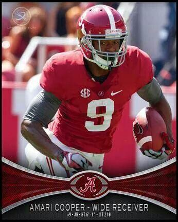 AMARI COOPER 8X10 Player Card Alabama Pinterest
