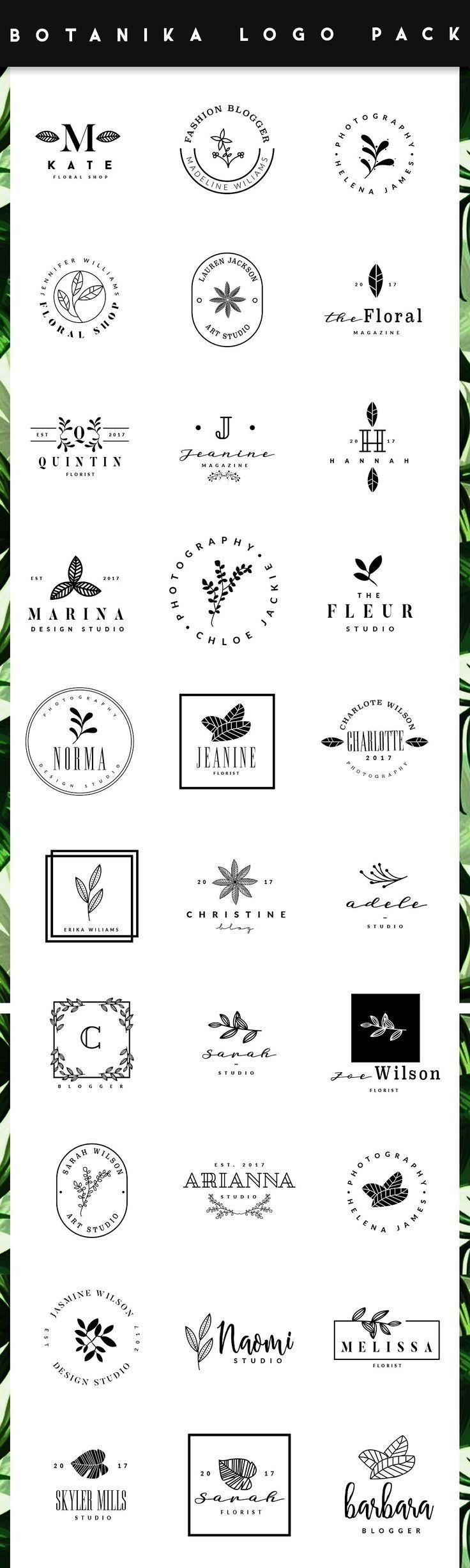 BOTANIKA Logo Maker Logotipo de tipografía, Logo