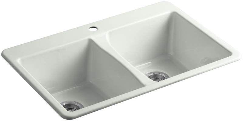 Kohler K 5873 1 Cast Iron Kitchen Sinks Double Bowl Kitchen