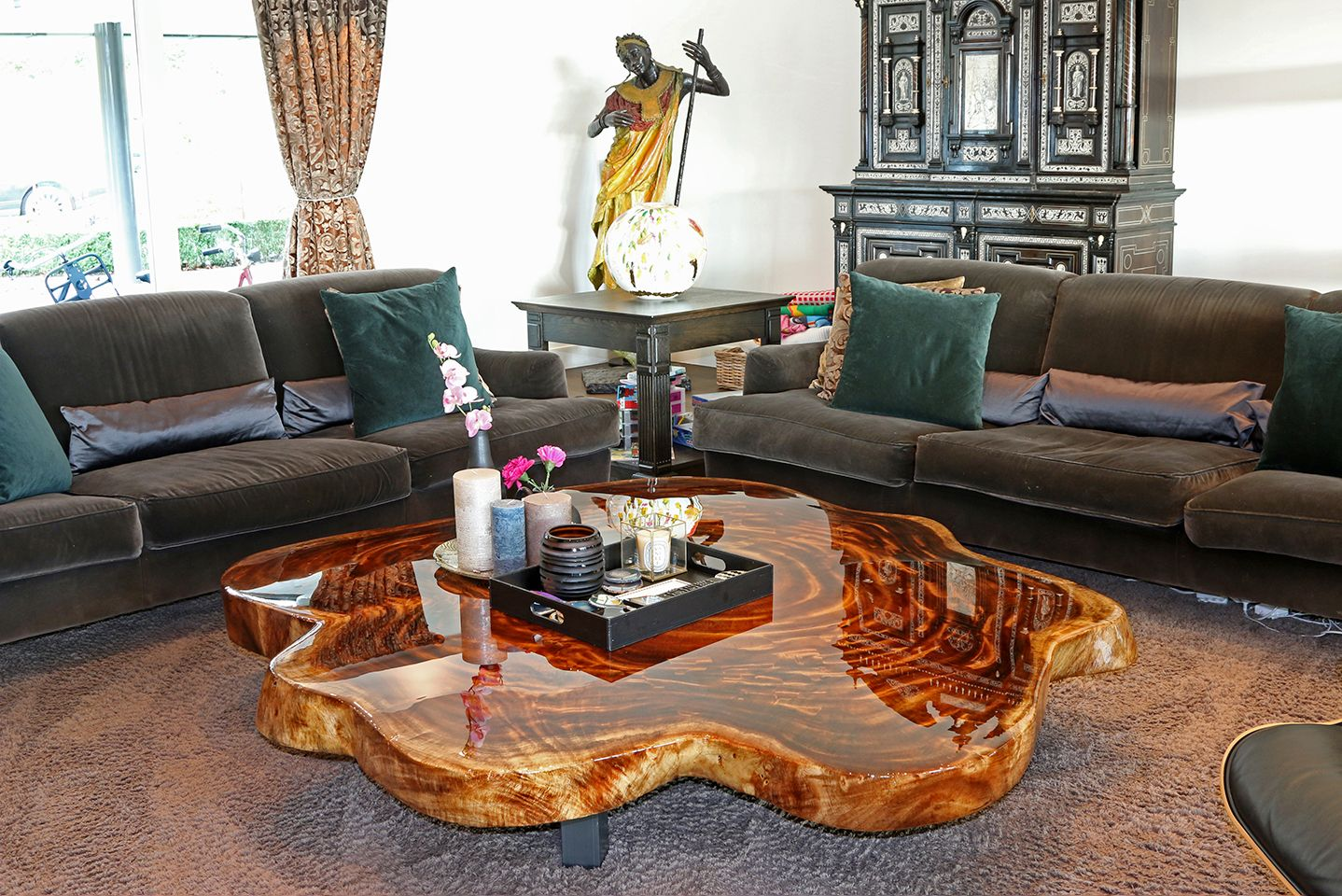 Luxury Houses Tree Trunk Table Epoxy Wood Table Trunk Table