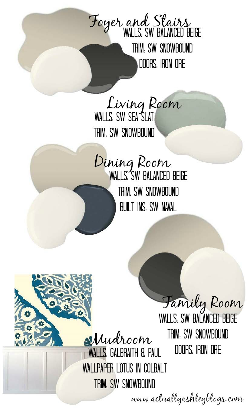 Color Schemes For House foolproof paint selections for an open concept floor plan via