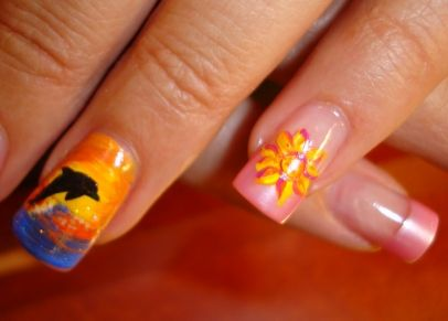 sunset Nail Designs | Sunset Nail Design for Lindsay - Sunset Nail Designs Sunset Nail Design For Lindsay Nails