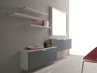 Birex Mobili ~ Mobile da ingresso componibile laccato a parete xl mobile da