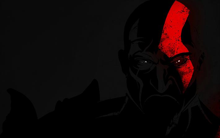 Download Wallpapers 4k Kratos Darkness 2018 Games Fan Art God